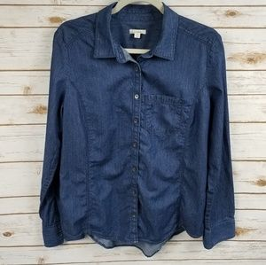 Caslon chambray button down shirt